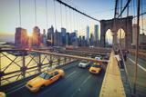 Usa, New York, New York City, Brooklyn Bridge Photographic Print by Michele Falzone