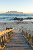 Bloubergstrand Beach with Table Mountain in Background. Cape Town, Western Cape, South Africa Photographic Print by Peter Adams