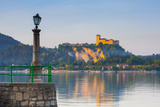 The Imposing La Rocca Fortress Viewd from Arona at Sunset, Lake Maggiore, Piedmont, Italy Photographic Print by Doug Pearson