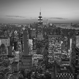 Usa, New York, Manhattan, Top of the Rock Observatory, Midtown Manhattan and Empire State Building Photographic Print by Michele Falzone
