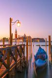 Riva Degli Schiavoni, Venice, Veneto, Italy. Moored Gondolas in Front of San Giorgio Maggiore Photographic Print by Marco Bottigelli