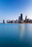 Usa, Illinois, Chicago. the City Skyline from North Avenue Beach. Photographic Print by Nick Ledger