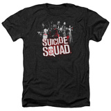 Suicide Squad-Red Spatter Logo T-shirts