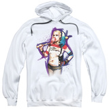 Hoodie: Suicide Squad- Harley Bubble Pullover Hoodie