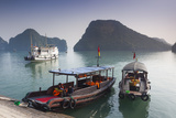 Vietnam, Halong Bay, Tito Island, Water Taxis Photographic Print by Walter Bibikow