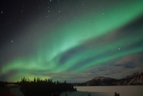 USA, Alaska, Aurora Borealis, Northern lights natural atmospheric effect near the magnetic pole Photographic Print by Gerard Fritz