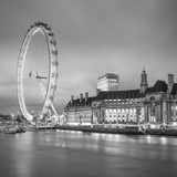 London Eye (Millennium Wheel) and Former County Hall, South Bank, London, England Photographic Print by Jon Arnold