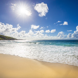 Grand Anse Beach, La Digue, Seychelles Fotografisk tryk af Jon Arnold