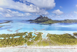 Aerial View of Bora Bora Island with St Regis and Four Seasons Resorts, French Polynesia Photographic Print by Matteo Colombo