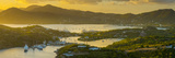Caribbean, Antigua, English Harbour from Shirley Heights, Sunset Photographic Print by Alan Copson