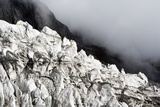 Layers of ice in Yulong Glacier, Yulong Naxi Autonomous County, Lijiang City, China Photographic Print