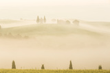 Early Morning Mist, Cappella Di Vitaleta, Chapel, Val D'Orcia, Tuscany, Italy Photographic Print by Peter Adams