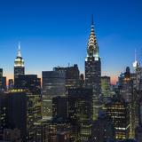 Chrysler Building and Empire State Building, Midtown Manhattan, New York City, New York, USA Reproduction photographique par Jon Arnold