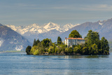 Isola Madre with Snowy Alps Behind, Lake Maggiore, Piedmont, Italy Photographic Print by Stefano Politi Markovina