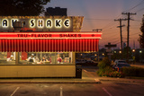 Usa, Midwest, Missouri, Route 66, Springfield, Steak 'N Shake Restaurant Photographic Print by Christian Heeb