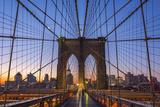 Usa, New York, Brooklyn Bridge Photographic Print by Alan Copson