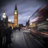 Big Ben, Houses of Parliament and Westminster Bridge, London, England Photographic Print by Jon Arnold