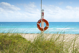 Florida, Surfside, Miami Beach, North Miami Beach, Lifeguard Buoy Photographic Print by John Coletti