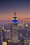 Usa, New York, Manhattan, Top of the Rock Observatory, Midtown Manhattan and Empire State Building Fotografie-Druck von Michele Falzone