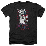Suicide Squad- Distressed Harley Quinn At Bat T-Shirt