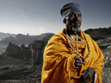 Head Priest at Debre Maryan Korkor, Tigray, Ethiopia, Africa Photographic Print by Neil Thomas