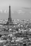 Elevated View over the City with the Eiffel Tower in the Distance, Paris, France, Europe Photographic Print by Gavin Hellier