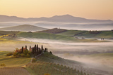 Belvedere Farm at Sunsise, Orcia Valley,Tuscany,Italy. Photographic Print by  ClickAlps
