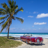 1959 Dodge Custom Loyal Lancer Convertible, Playa Del Este, Havana, Cuba Photographic Print by Jon Arnold