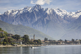 Italy, Lombardy, Lake Como, Northern Branch of Lake Como and the Town of Gravedona Photographic Print by  ClickAlps