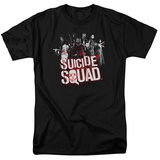 Suicide Squad-Red Spatter Logo Shirts