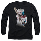 Long Sleeve: Suicide Squad- Harley Quinn At Bat T-shirts