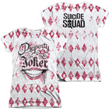 Juniors: Suicide Squad- Property Of Joker Argyle (Front/Back) Womens Sublimated