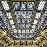 Europe, United Kingdom, England, West Yorkshire, Halifax, Halifax Town Hall Photographic Print by Mark Sykes