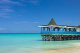 Caribbean, Antigua, Dickinson Bay, Dickinson Bay Beach, Warri Pier Restaurant Photographic Print by Alan Copson
