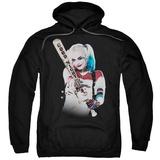 Hoodie: Suicide Squad- Harley Quinn At Bat Pullover Hoodie