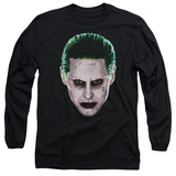 Long Sleeve: Suicide Squad- Joker Serious Face T-shirts