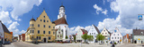 Historical Central Square, Hochstadt, Swabia, Bavaria, Germany Photographic Print by Doug Pearson