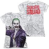 Juniors: Suicide Squad- Joker Close Shave Etches (Front/Back) T-shirts