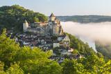 Early Morning Mist, Chateau De Castelnaud, Castelnaud, Dordogne, Aquitaine, France Photographic Print by Peter Adams