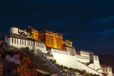 Potala Palace at night, Lhasa, Tibet, China Photographic Print