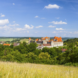 Elevated View Towards the Medieval Harburg Castle, Swabia, Bavaria, Germany Photographic Print by Doug Pearson