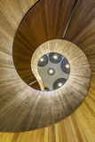 Europe, United Kingdom, England, Middlesex, London, Citizenm Hotel Spiral Staircase Photographic Print by Mark Sykes