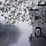 Bai Jian Lou in morning, Nanxun, Huzhou, Zhejiang Province, China Photographic Print