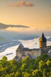 Germany, Rhineland Palatinate, Bacharach, Burg Stahleck (Stahleck Castle), River Rhine Photographic Print by Alan Copson