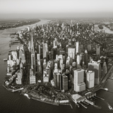 One World Trade Center and Lower Manhattan, New York City, New York, USA Fotografisk tryk af Jon Arnold