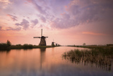 Kinderdijk, Netherlands the Windmills of Kinderdijk Resumed at Sunrise. Photographic Print by  ClickAlps