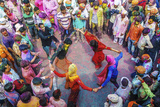 Asia, India, Uttar Pradesh, Nandgaon, Dancing During Holi Festival Photographic Print by  ClickAlps