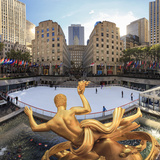 Usa, New York, New York City, Manhattan, Rockefeller Center, Ice Rink Photographic Print by Michele Falzone