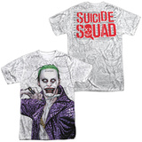 Suicide Squad- Joker Close Shave Etches (Front/Back) T-shirts