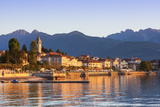 The Idyllic Lakeside Village of Baveno Illuminated at Sunrise, Lake Maggiore, Piedmont, Italy Photographic Print by Doug Pearson
